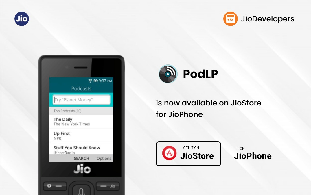 PodLP launched on the JioStore for JioPhone